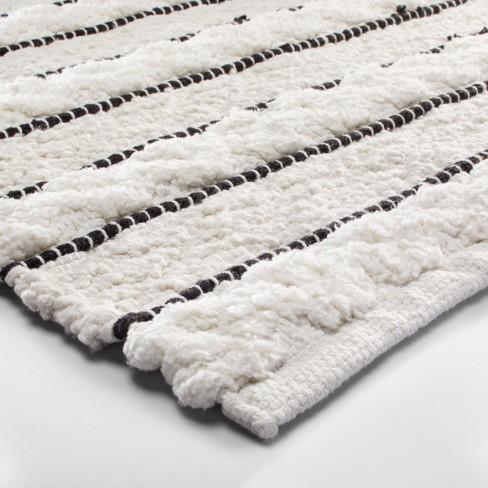 Striped Bath Rug White Black Opalhouse Target