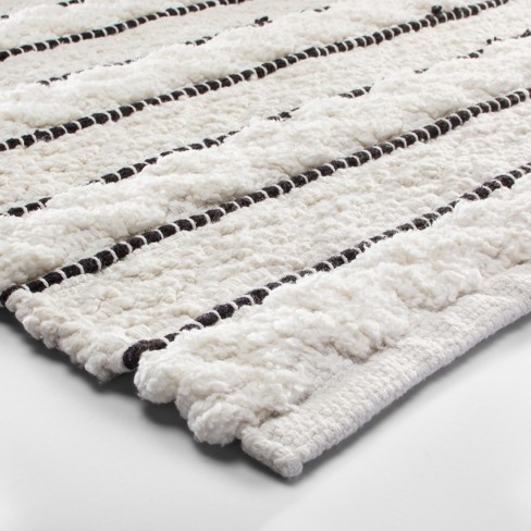 365c7256493f Striped Bath Rug White/Black - Opalhouse™ : Target