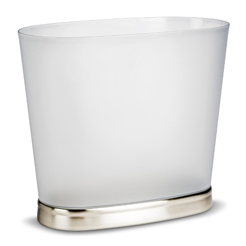 Wastebasket ID Gina Oval Brushed Nickel - image 1 of 1