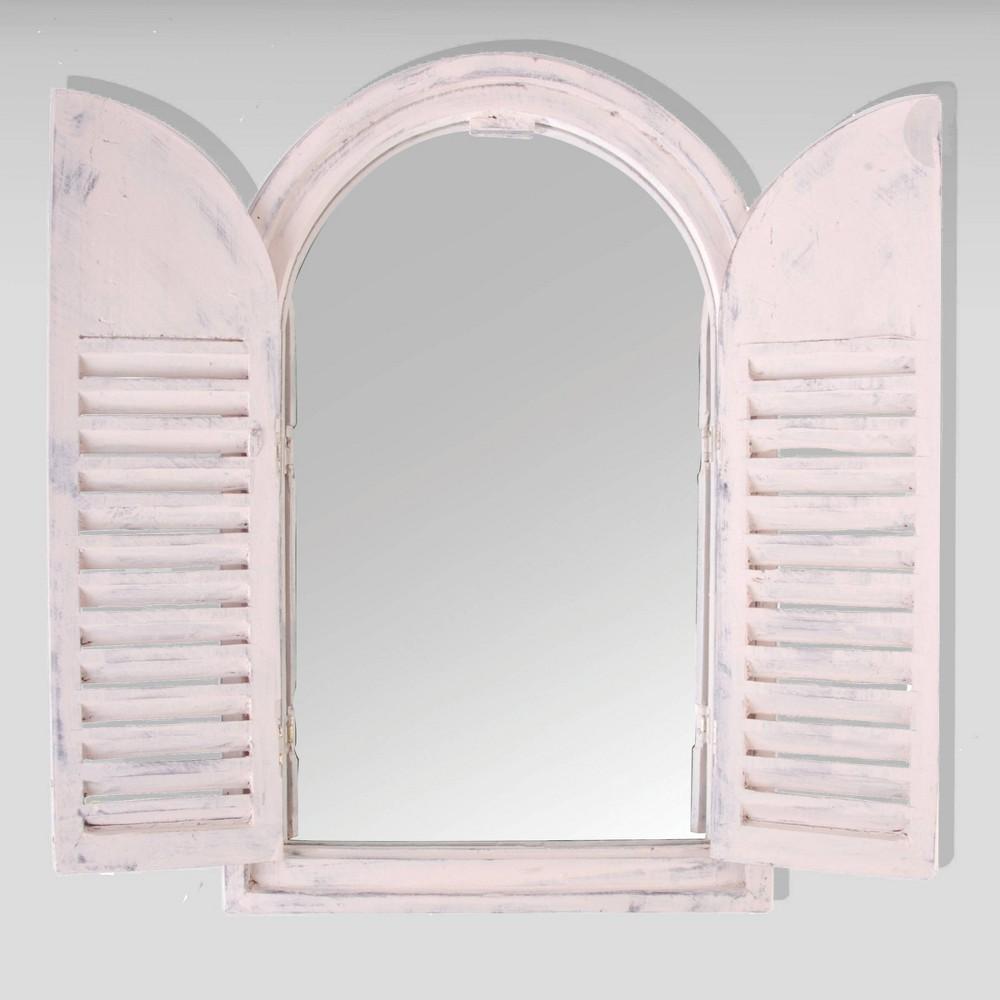 23 Wooden Window Frame With Glass French Doors White - Esschert Design