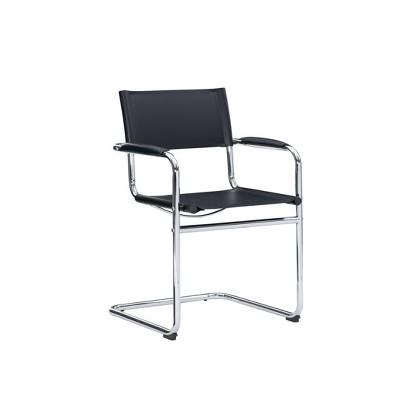 Delta Chair Chrome Black - Linon
