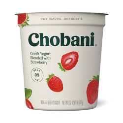 Chobani Strawberry Blended Nonfat Greek Yogurt - 32oz