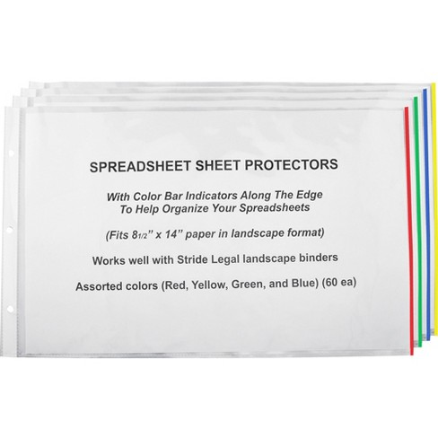"Stride Sheet Protectors 8-1/2""x14"" 60/BX CL/ AST Color Bars 61300 - image 1 of 1"