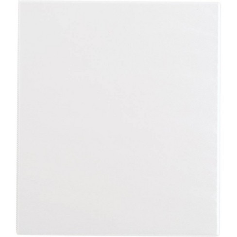 """0.5"""" Ring Binder Clear View White - Up&Up™ - image 1 of 4"""