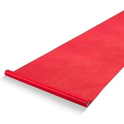 Juvale Red Carpet Runner - Aisle Runner - Essential Hollywood and Christmas Party Decoration, Runway Rug, Red, 3x50 Feet (40gsm Thickness)