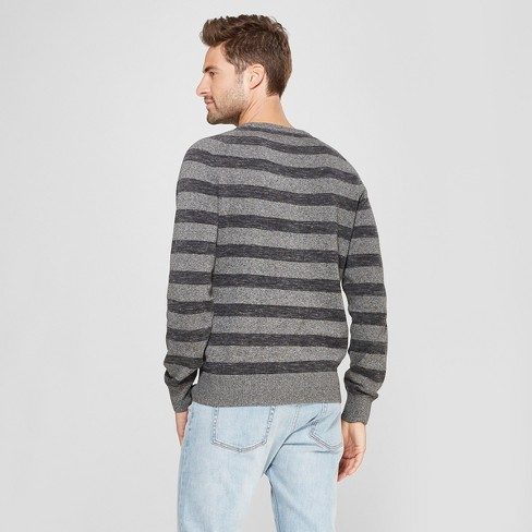 ec4d6edfa7 Men's Striped Standard Fit Crew Neck Sweater - Goodfellow & Co™ Charcoal  Heather S : Target