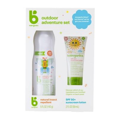 Babyganics 5oz Repellant & 2oz Sunscreen Duo