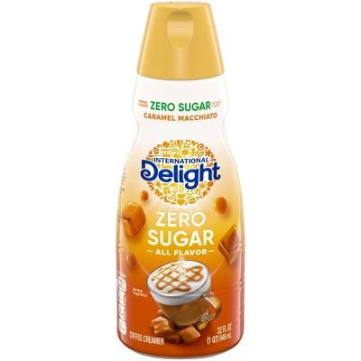 International Delight Caramel Macchiato Zero Sugar Coffee Creamer - 32 fl oz