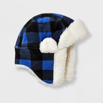 Boys' Fleece Trapper Hat - Cat & Jack™ Blue 8-16