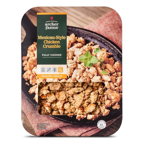 Fully Cooked Chicken Crumble Mexican Style - 12oz - Archer Farms™ - image 1 of 1