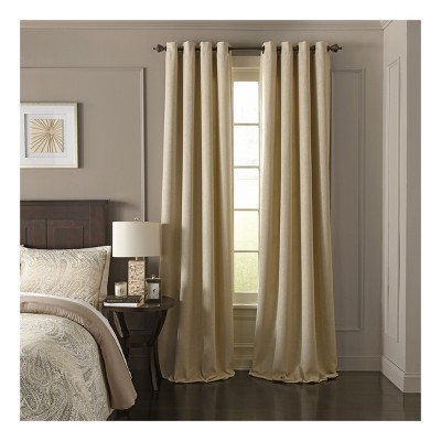 "95""x52"" Arlette Blackout Window Curtain Panel Cream - Beautyrest"