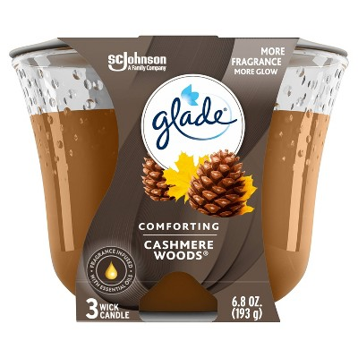 Glade Candle Cashmere Woods - 6.8oz
