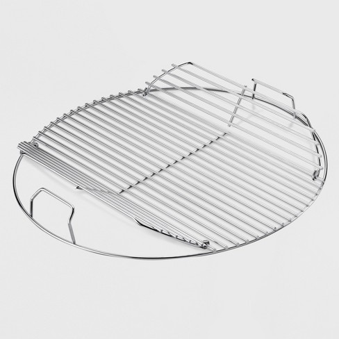 Stainless Steel Grid//Checker Cushion Hinged Bangle Length 8
