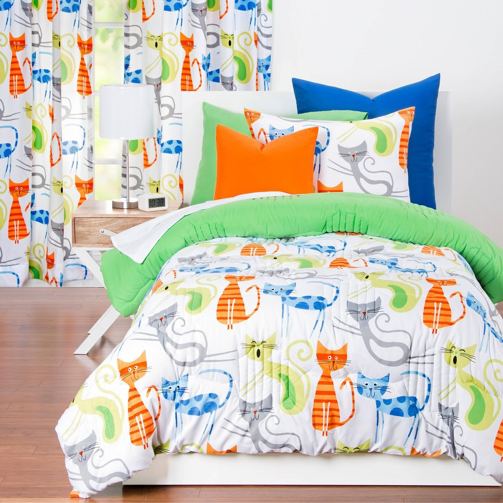 Image of Smarty Cat Comforter Set (Twin) - Learning Linens