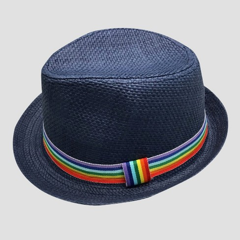 140068891f2932 Toddler Boys' Fedora With Rainbow Band - Cat & Jack™ Navy 2T-5T : Target