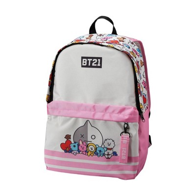 "Line Friends BT21 Urban 21.5"" Backpack- Tata, Mang, Chimmy, RJ, Koya, Cooky, Shooky and Van"