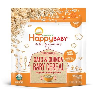 HappyBaby Oats & Quinoa Ancient Grains Baby Cereal - 7oz
