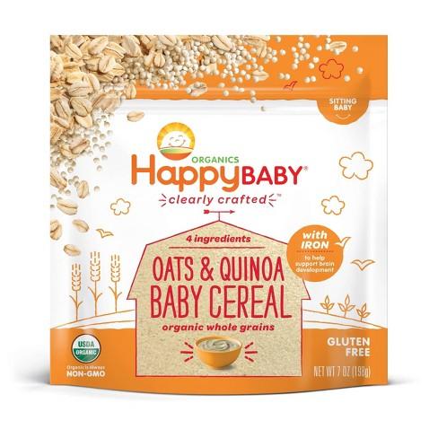 HappyBaby Oats & Quinoa Ancient Grains Baby Cereal - 7oz - image 1 of 3
