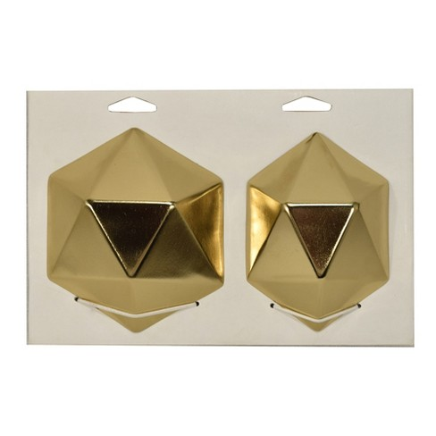 Gold Faceted Tiles Decorative Wall Sculpture - image 1 of 1