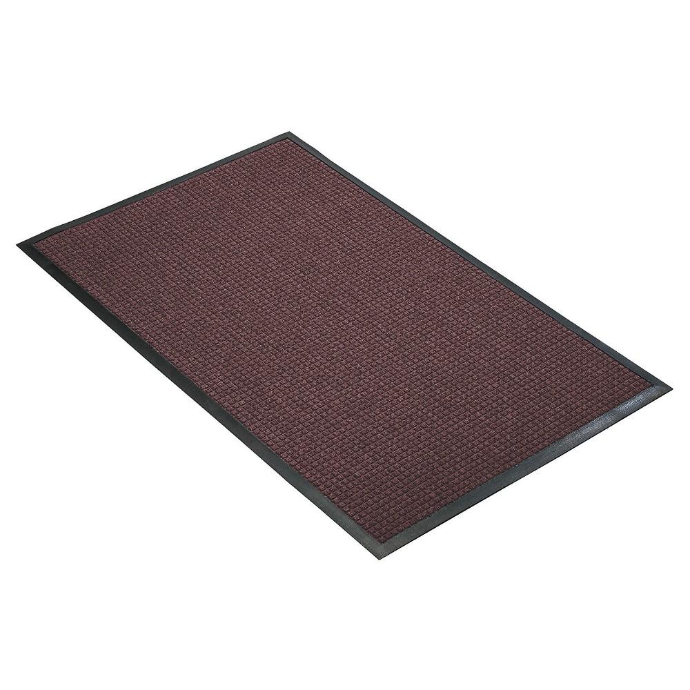 Burgundy (Red) Solid Doormat - (4'X6') - HomeTrax