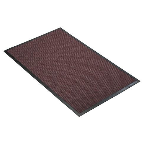 Burgundy Solid Doormat - (4'x6') - HomeTrax - image 1 of 4