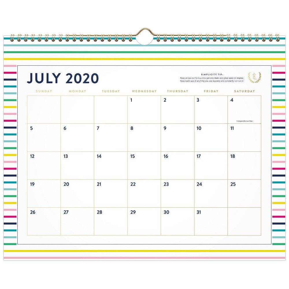 "Image of ""2020-21 Academic Wall Calendar 12"""" x 15"""" Multi - Emily Ley"""