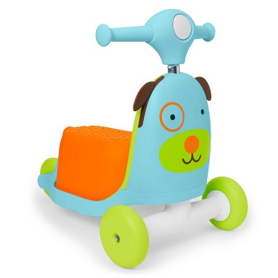 Skip Hop Kids' 3-in-1 Ride On Scooter and Wagon Toy - Dog