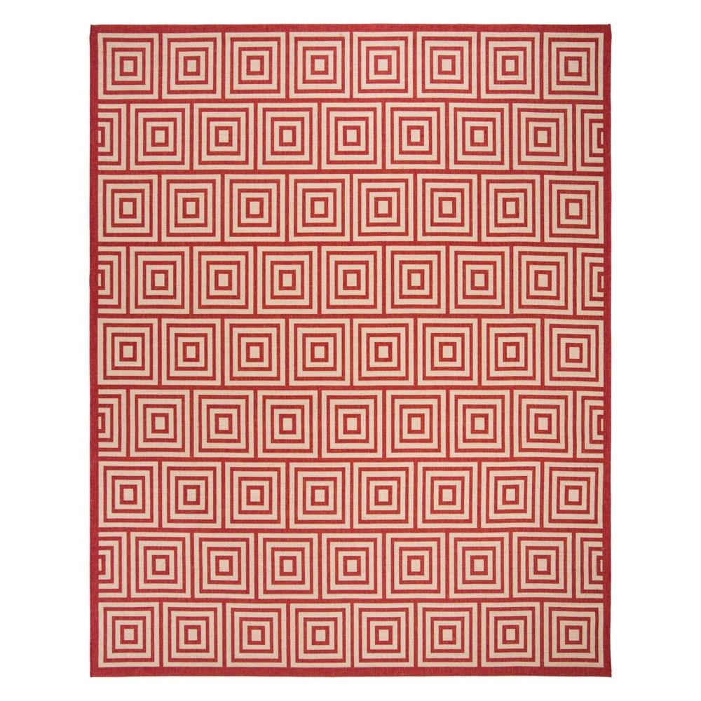 9X12 Geometric Loomed Area Rug Red/Cream - Safavieh Price