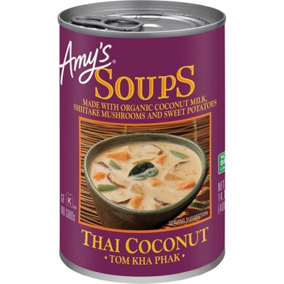 Amy's Soups Thai Coconut Soup Tom Kha Phak - 14.1oz