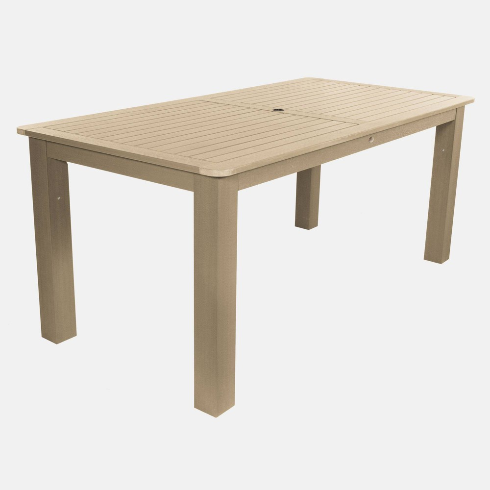 """Image of """"84"""""""" Rectangular Counter Height Dining Table Tuscan Taupe - highwood, Beige"""""""