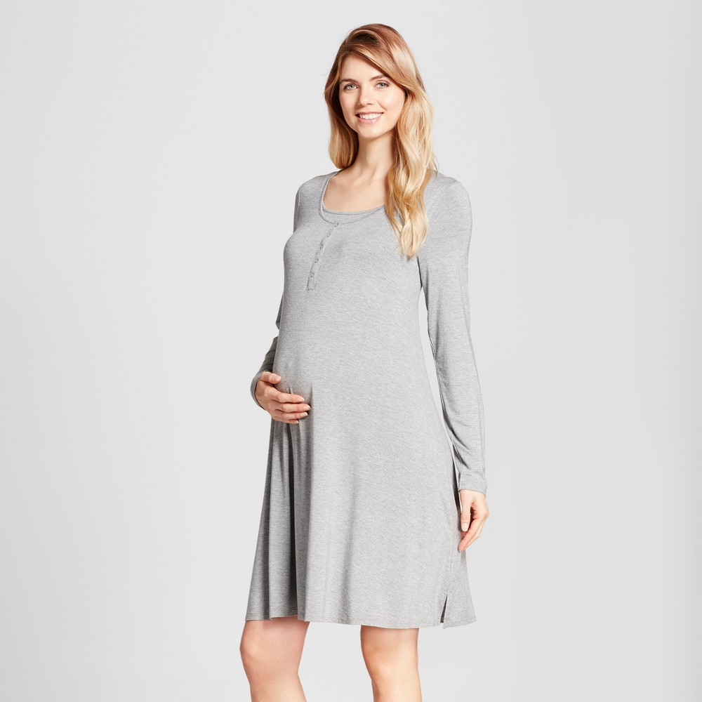 Maternity Nursing Nightgown - Isabel Maternity by Ingrid & Isabel Heather Gray M, Infant Girl's