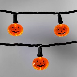 20ct Orange Pumpkins with Black Wire LED Halloween Novelty String Lights - Hyde & EEK! Boutique™