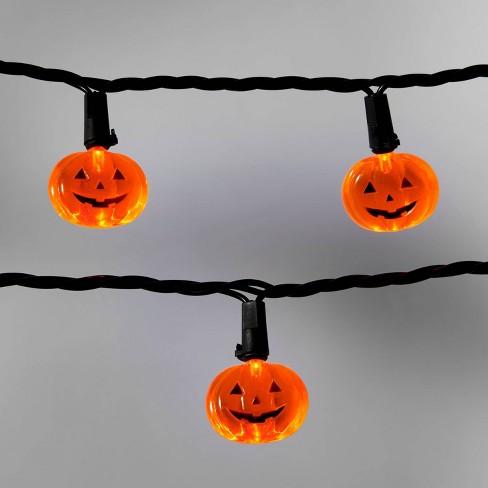 20ct Orange Pumpkins with Black Wire LED Halloween Novelty String Lights - Hyde & EEK! Boutique™ - image 1 of 3