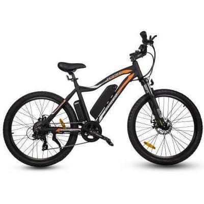 "Ecotric Leopard 26"" Electric Road Bike - Matte Black"