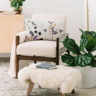 Iveta Abolina Woodland Dream Lumbar Throw Pillow White - Deny Designs : Target