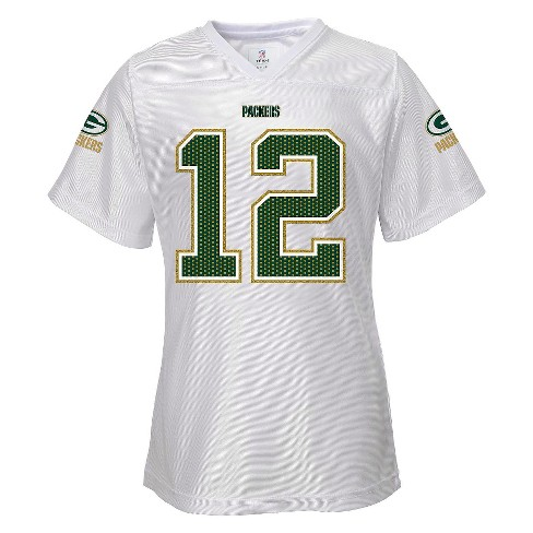 Green Bay Packers Girls White Jersey XS - image 1 of 2