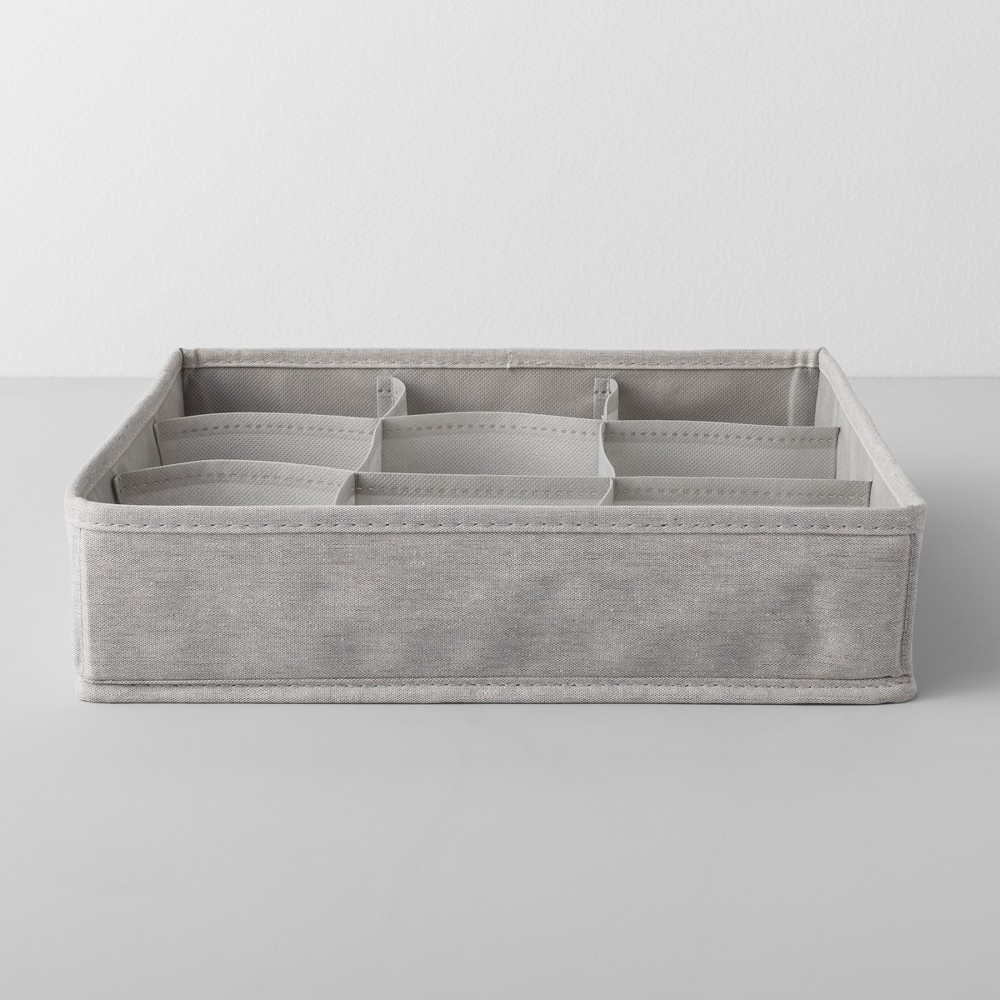 "Image of ""Fabric Accessory Bin 13""""Wx13""""Dx3""""H Light Gray - Made By Design"""