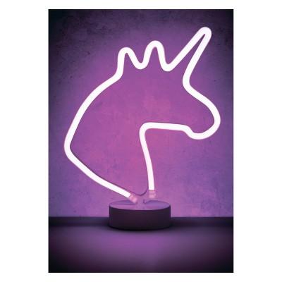 "Unicorn 12"" LED Novelty Table Lamp Purple - West & Arrow"