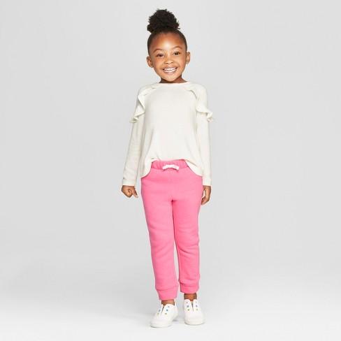 e8dd1d1601f Toddler Girls  Long Sleeve Cozy Pullover - Cat   Jack™ Cream   Target