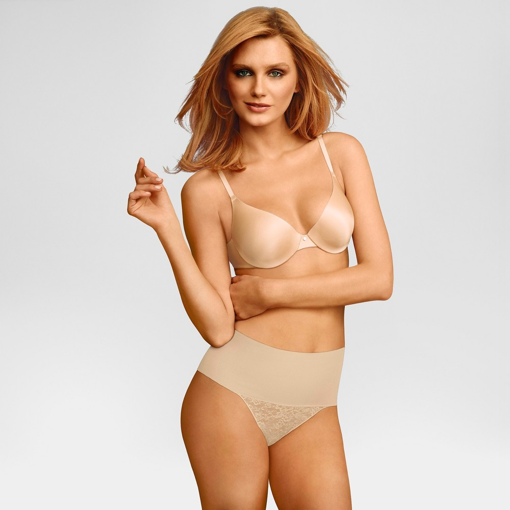 Maidenform Self Expressions Women's Tame Your Tummy Thong - Nude M
