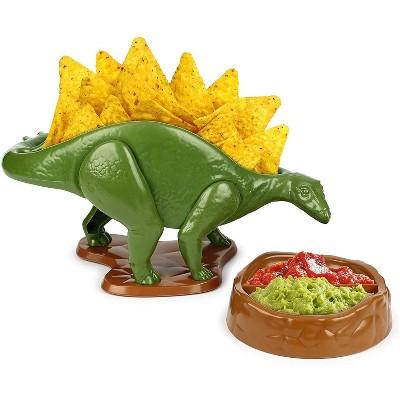 Funwares NACHOsaurus Sculpted Dinosaur Snack & Dip Bowl Set