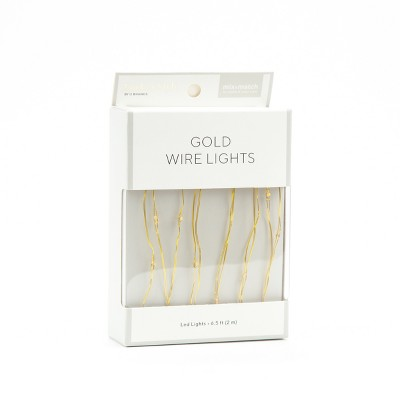 Wire LED Lights 6.5ft Gold - Locker Style