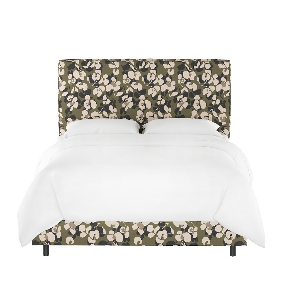 California King Harper Box Seam Bed Neutral Floral - Cloth & Co.