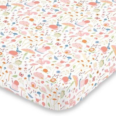 NoJo Spring Garden Mini Crib Sheet