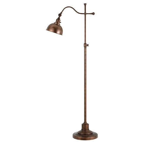 Cal Lighting Portico Metal Floor Lamp with Adjustable Height and Head Angle - Rust - image 1 of 1
