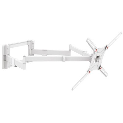 """Barkan 13-80"""" 4-Movement Extra Long / Dual Arm / Full Motion TV Wall Mount - White"""