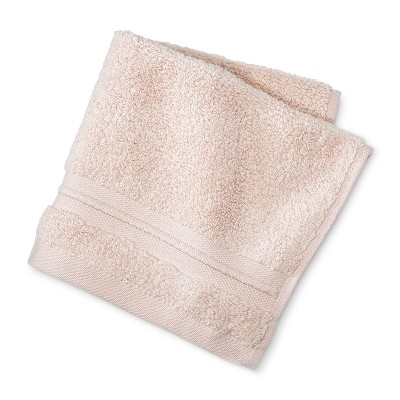 MicroCotton Spa Solid Washcloth Peach Stripe - Fieldcrest®