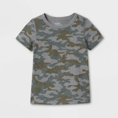 Toddler Boys' Adaptive Camo Short Sleeve T-Shirt - Cat & Jack™ Green