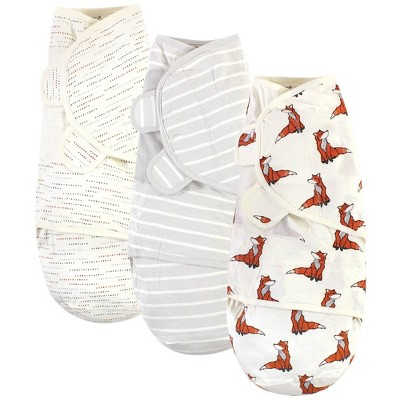 Touched by Nature Unisex Baby Organic Cotton Swaddle Wraps - Boho Fox 0-3 Months