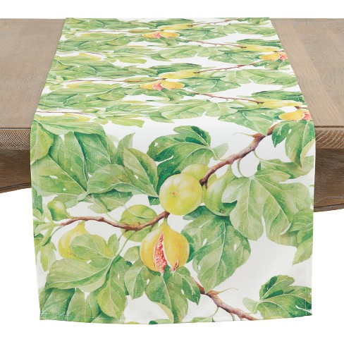 "Saro Lifestyle 72""X16"" Fresh Fig Table Runner Green - image 1 of 2"